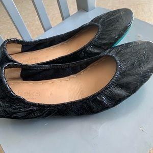 Tieks obsidian black size 8